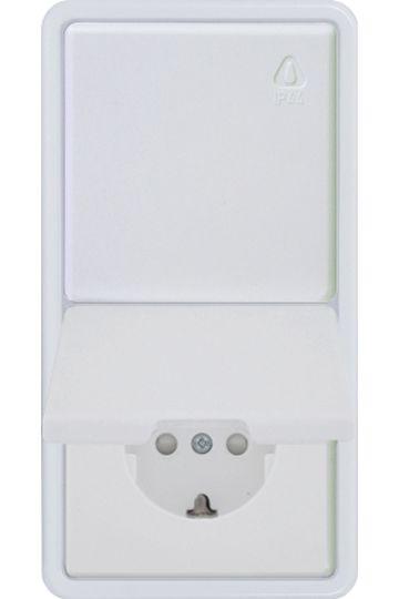 Kopp IP44 Unterputz Wechselschalter Steckdose Feuchtraum Kombination UP