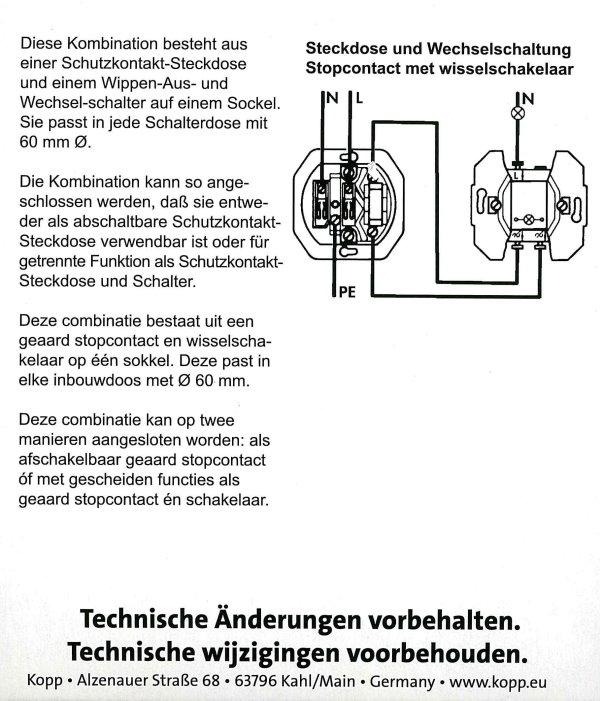 Beliebt Schalter/Steckdosen-Kombination - UP-Einzelgeräte - Serie Standard GF95