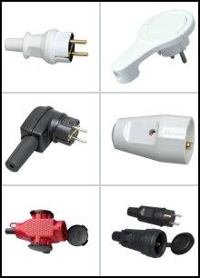 230 V - Stecker und Kupplungen
