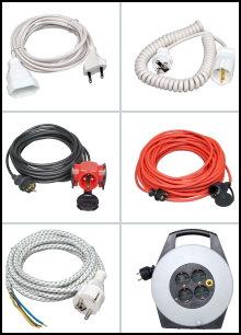 230 V - Verlängerungskabel / Zuleitungen / Kabelrollen