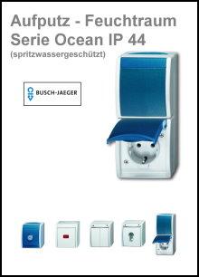 BUSCH-JAEGER - AP-Feuchtraum - Serie Ocean IP 44