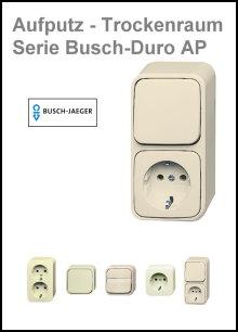 BUSCH-JAEGER - AP-Trockenraum - Serie Busch-Duro 2000 AP
