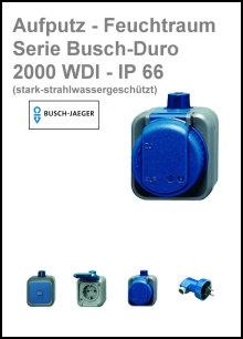 BUSCH-JAEGER - AP-Feuchtraum - Serie Busch-Duro 2000 WDI - IP 66
