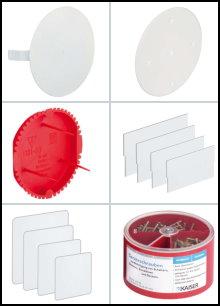 Deckel, Signaldeckel, Trennwände und Zubehör für Geräte- und Verteilerdosen