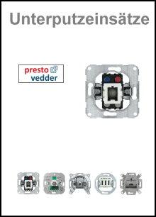 PRESTO-VEDDER - Unterputzeinsätze