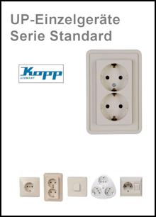KOPP - UP-Einzelgeräte - Serie Standard
