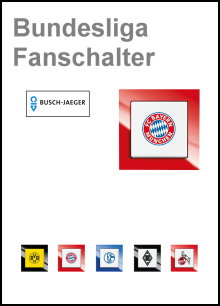 BUSCH-JAEGER - Bundesliga Fanschalter - Serie Busch-Axcent
