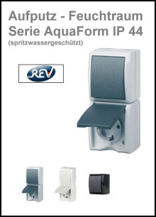 REV-RITTER - AP-Feuchtraum - Serie AquaForm IP 44
