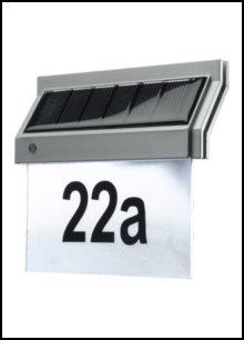 Solar-Hausnummern-Leuchten
