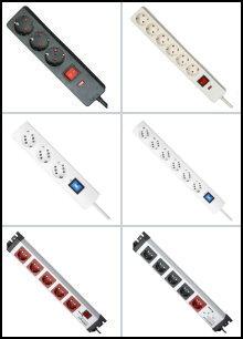 Steckdosenleisten mit Geräteschutz-Überspannungsfilter - KOPP