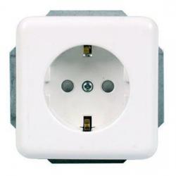 Steckdosen-Einsatz mit erhöhtem Berührungsschutz - Serie Vario - REV-RITTER weiß - (3,05 Euro)