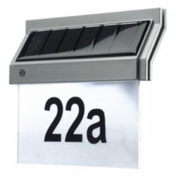 Quattroline-Solar-Hausnummernleuchte mit LED - REV-RITTER silber - (25,80 Euro)