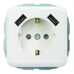 Steckdose mit 2-fach USB-Modul - Serie Vario - REV-RITTER weiß - (15,81 Euro)
