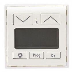 Abdeckung für Jalousiezeitschaltuhr-Einsatz - einzeln - ohne UP-Einsatz - Serie Matrix - REV-RITTER weiß matt - (13,11 Euro)