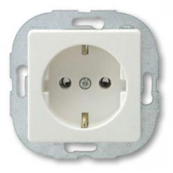 Steckdose ohne erhöhtem Berührungsschutz - Serie PrimaLuxe - DÜWI weiß - (2,54 Euro)
