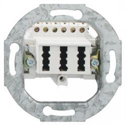 TAE-Telefon-Anschlußdosen-Einsatz - NFN-Codierung - RUTENBECK TAE - 3x6 NFN - reinweiß - (3,20 Euro)