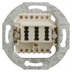 TAE-Telefon-Anschlußdosen-Einsatz - NF/F-Codierung - RUTENBECK TAE - 2x6/6 NFF - perlweiß - (3,37 Euro)