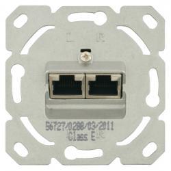 UAE-Datendosen-Einsatz - 2 Steckbuchsen - 8/8 (8/8) polig Kat. 6 geschirmt - SOLOGIC - N & L 2 Steckbuchsen - (15,88 Euro)
