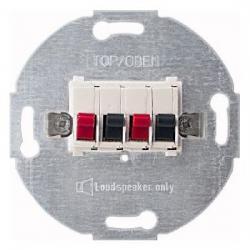 Stereo-Lautsprecher-Anschlussdose mit Schnellsteckklemmen - SOLOGIC - N & L polarweiß - (14,41 Euro)