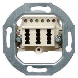 TAE-Telefon-Anschlußdosen-Einsatz - NFN-Codierung - KOPP TAE - 3x6 NFN - perlweiß - (6,76 Euro)