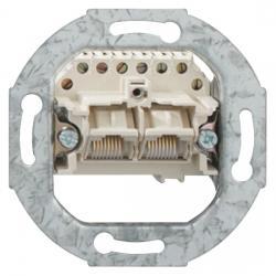 UAE-Anschlußdosen-Einsatz - 2 parallelgeschaltete Steckanschlüsse 2 x 8(8) polig - RUTENBECK perlweiß (ähnlich RAL 1013) - (8,55 Euro)