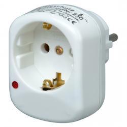 Schutzkontakt-Adapter mit Geräteschutz-Überspannungsfilter - KOPP arktis-weiß - (9,75 Euro)
