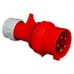 16 A - CEE-Stecker - mit Phasenwender - IP 44 - KOPP rot/grau - (14,12 Euro)