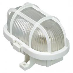 Ovalarmatur mit Kunststoffkorb - KOPP weiß - max. 60 W - (4,14 Euro)