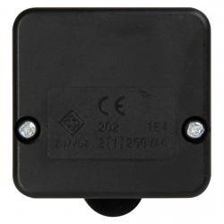 Truhenschalter - 1-polig - 0,5 A - KOPP schwarz - (5,78 Euro)