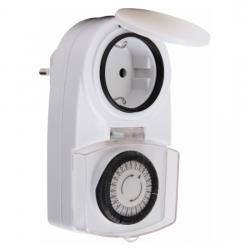 Mechanische Tages-Zeitschaltuhr - Feuchtraum - mit erhöhtem Berührungsschutz - IP44 - KOPP Feuchtraum - IP44 - weiß - (8,11 Euro)
