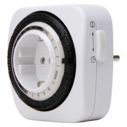 Mechanische Tages-Zeitschaltuhr - Kompakt - mit erhöhtem Berührungsschutz - KOPP weiß - (6,55 Euro)