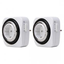 2 Stück-Set - mechanische Tages-Zeitschaltuhr - Kompakt - mit erhöhtem Berührungsschutz - KOPP 2 Stück-Set - weiß - (10,44 Euro)