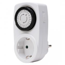 Mechanische Tages-Zeitschaltuhr - Mini - mit erhöhtem Berührungsschutz - KOPP weiß - (5,16 Euro)