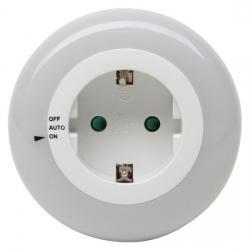 250 V Stecker/Steckdosen - LED Nachtlicht mit 3 LED´s und Tag/Nachtsensor und Schalter - KOPP weiß-leuchtend - (12,09 Euro)