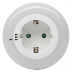 250 V Stecker/Steckdosen - LED Nachtlicht mit 3 x 3 LED´s und Tag/Nachtsensor und Schalter für Farbwechsel - KOPP einstellbar - weiß/grün/blau-leuchtend - (14,98 Euro)