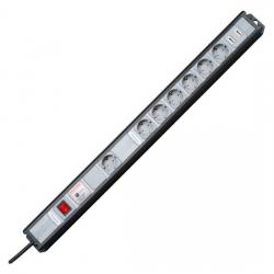 MULTIversal 7-fach mit Geräteschutz-Überspannungsfilter SAFETRONIC und TAE-Absicherung - KOPP schwarz/silber - (46,91 Euro)