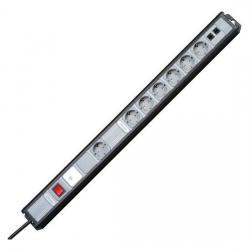 MULTIversal 7-fach mit Geräteschutz-Überspannungsfilter SAFETRONIC und ISDN-Absicherung - KOPP schwarz/silber - (46,91 Euro)
