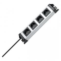 4-fach - POWERversal - anschraubbare Steckdosenleiste - KOPP silber-schwarz - (28,23 Euro)