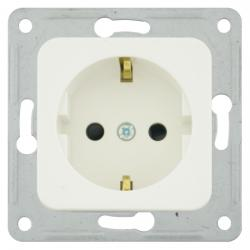 Steckdosen-Einsatz mit erhöhtem Berührungsschutz - Serie Fundus - SOLOGIC - N & L ultraweiß - (3,46 Euro)