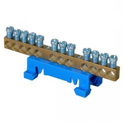 Neutralleiter-Klemme - mit Hutschienen-Schnellbefestigung - KOPP blau - (4,68 Euro)