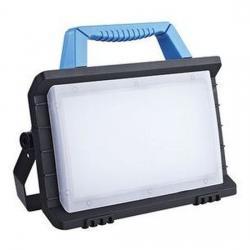 LED Worklight mit 1 x USB Ladeanschluss + 1 x Schutzkontaktsteckdose - 24 W / 2000 Lumen - REV-RITTER schwarz - (54,18 Euro)