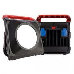 LED Worklight mit 2 Steckdosen - 50 W / 4000 Lumen - REV-RITTER schwarz - (104,48 Euro)