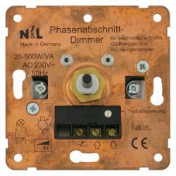 Dreh-Dimmer-Einsatz für Niedervolt-Halogenlampen - für elektr. Trafos - 20-500 W/VA - SOLOGIC - N & L Phasenabschnitt - 20-500 W/VA - (68,82 Euro)