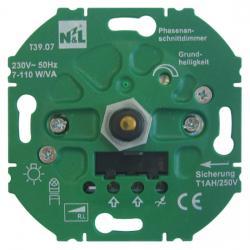 Dreh-Dimmer-Einsatz für LED-/Energiesparlampen - für konvent. Trafos - 7-110 W/VA - SOLOGIC - N & L Phasenanschnitt - 7-110 W/VA - (48,73 Euro)