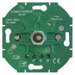 Dreh-Dimmer-Einsatz für LED-/Energiesparlampen - für elektr. Trafos - 15-150 W/VA - SOLOGIC - N & L Phasenabschnitt - 15-150 W/VA - (57,23 Euro)