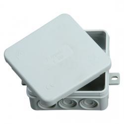 Abzweigkasten AP-Feuchtraum IP 54 - ohne Klemmleiste - 85 x 85 x 40 mm - KOPP 1 Stück - Farbe: grau - (1,35 Euro)