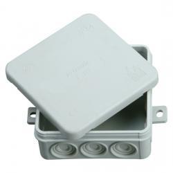 Abzweigkasten AP-Feuchtraum IP 54 - mit Klemmleiste - 85 x 85 x 40 mm - KOPP 1 Stück - Farbe: grau - (1,99 Euro)