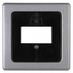 Abdeckung für TAE-Telefondosen-Einsätze - Serie Vision - KOPP stahlfarben (Metall-Oberfläche) - (8,31 Euro)