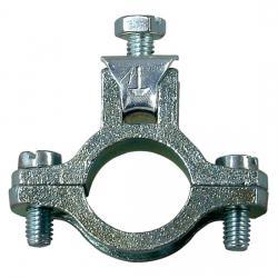 Zinkdruckguss-Erdungsrohrschelle mit Schutzleiteranschluss - KOPP für Rohrdurchnmesser: 21,3 mm - (1/2 Zoll) - (3,04 Euro)