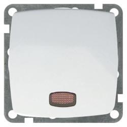 Kontroll-Aus-/Wechselschalter beleuchtet mit Glimmlampe - Serie Roma - UNITEC ultraweiß - (3,53 Euro)